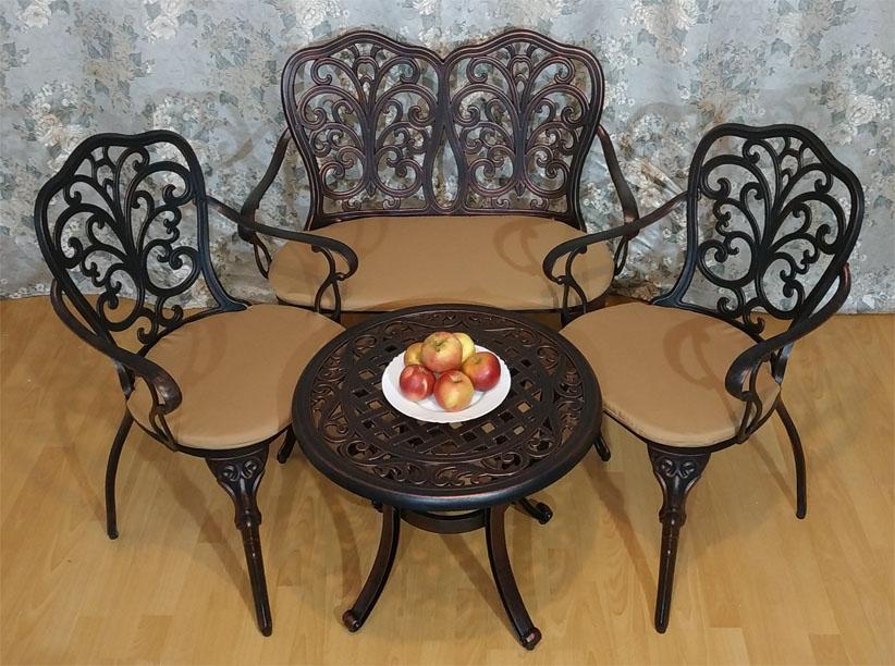 комплект мебели кружева стол кофейный два кресла и диван