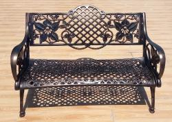 Литая скамейка из алюминия Клематис.