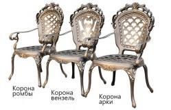Кресла из литого алюминия Корона Арки_7